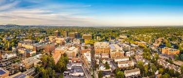 Luchtcityscape van Morristown, New Jersey stock afbeeldingen