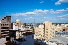 Luchtcityscape van San Antonio Van de binnenstad, Texas Facing Towards E royalty-vrije stock foto