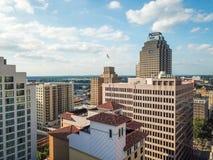Luchtcityscape van San Antonio Van de binnenstad, Texas Facing Towards E stock foto