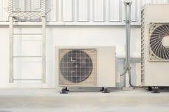 Luchtcompressor buiten Stock Foto