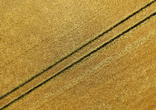 Luchtfoto, abstract beeld van een voor op het gebied na Th Royalty-vrije Stock Foto's