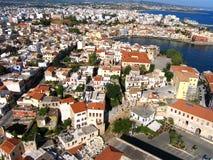 Luchtfoto, Chania-Stad, oude stad, Kreta, Griekenland stock foto's