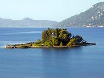 Luchtfoto, het Eiland van Korfu, Griekenland stock afbeeldingen