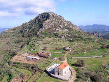 Luchtfoto, Kissamos, Chania, Kreta, Griekenland royalty-vrije stock fotografie