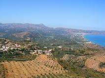 Luchtfoto, Kissamos, Chania, Kreta, Griekenland stock foto's