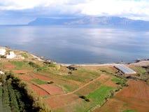 Luchtfoto, Kissamos, Chania, Kreta, Griekenland stock afbeeldingen