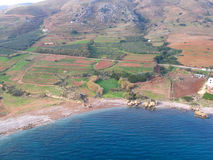Luchtfoto, Kissamos, Chania, Kreta, Griekenland stock afbeelding