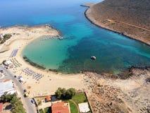 Luchtfoto, Stavros Beach, Chania, Kreta, Griekenland royalty-vrije stock foto
