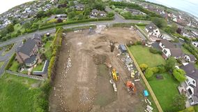 Luchtfoto van bouwterrein Stock Foto