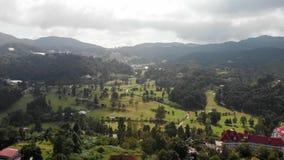 Luchtfoto van Cameron Highlands, Maleisië stock footage