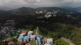 Luchtfoto van Cameron Highlands, Maleisië stock video