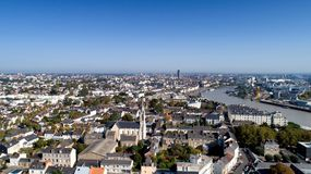 Luchtfoto van de stadscentrum van Nantes Royalty-vrije Stock Afbeelding