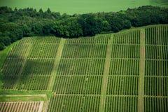 Luchtfoto van Domeinen, Duitsland Stock Afbeeldingen