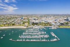 Luchtfoto van Geelong in Victoria, Australië stock afbeelding