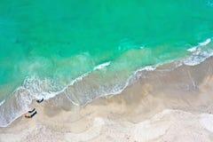 Luchtfoto van Oceaanbranding royalty-vrije stock afbeeldingen