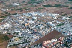 Luchtfoto van Valencia City Surrounding Area royalty-vrije stock afbeeldingen
