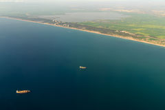 Luchtfoto van Valencia City Surrounding Areas In Spanje stock fotografie