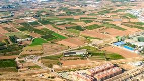 Luchtfoto van Valencia City Surrounding Areas In Spanje royalty-vrije stock afbeeldingen