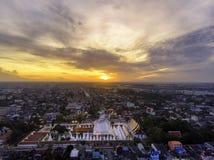 Luchtfoto van Wat Phra Mahathat royalty-vrije stock foto's