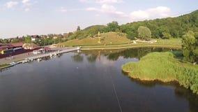 Luchtfotografie van Roemeense Montains stock video