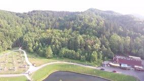 Luchtfotografie van Roemeense Montains stock videobeelden
