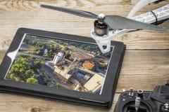 Luchtfotografieconcept stock afbeeldingen