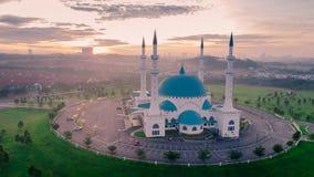 Luchtfotomening van Masjid Sultan Iskandar Stock Foto's