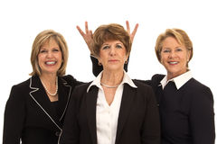 Luchthartige Bedrijfsvrouwen Stock Afbeeldingen