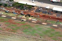 Luchthaven in aanbouw Royalty-vrije Stock Afbeelding