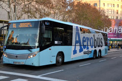 Luchthaven Aerobus in Barcelona Stock Afbeelding