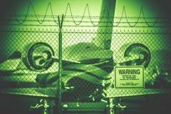 Luchthaven Beperkt Gebiedsconcept Royalty-vrije Stock Foto's