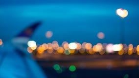 Luchthaven Eindbokeh Vage Achtergrond royalty-vrije stock foto's