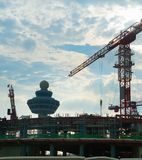 Luchthaven eindbouwwerf Singapore royalty-vrije stock foto's