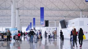 Luchthaven eindzaal stock footage