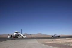 Luchthaven in het midden van nergens Royalty-vrije Stock Afbeelding