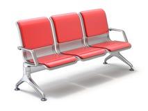 Luchthaven het wachten stoelen Royalty-vrije Stock Afbeeldingen