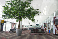 Luchthaven het Wachten Zitkamer Stock Afbeelding