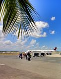 Luchthaven in Punta Cana van Dominicaanse Republiek Royalty-vrije Stock Fotografie
