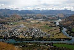 Luchthaven in Queenstown, Nieuw Zeeland Stock Foto