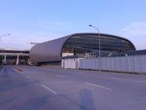 Luchthaven railink post Royalty-vrije Stock Afbeeldingen