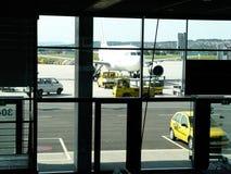 luchthaven scène stock foto