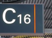 luchthaven teken royalty-vrije stock afbeeldingen