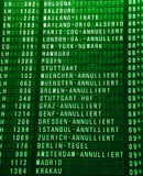 Luchthaven timeboard Royalty-vrije Stock Afbeelding