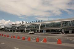 Luchthaven Tolmachevo in Novosibirsk, Rusland stock fotografie