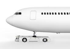 Luchthaven Tow Truck Royalty-vrije Stock Afbeeldingen