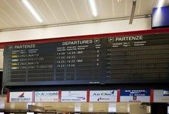 Luchthaven van Genua, geannuleerde vluchten Royalty-vrije Stock Foto's