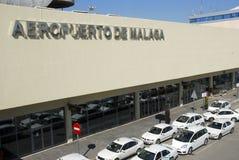 Luchthaven van Malaga in Spanje Stock Foto's