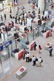 Luchthaven van Peking van het veiligheidscontrolegebied de Hoofd Internationale royalty-vrije stock afbeelding