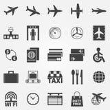 Luchthaven vectorpictogrammen Stock Afbeeldingen