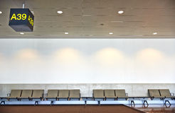 Luchthaven wachtend gebied. Royalty-vrije Stock Afbeelding